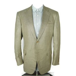 Canali Blazer 36 EU 46 US Silk Houndstooth Plaid